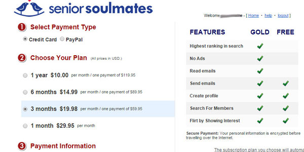 SeniorSoulmates price